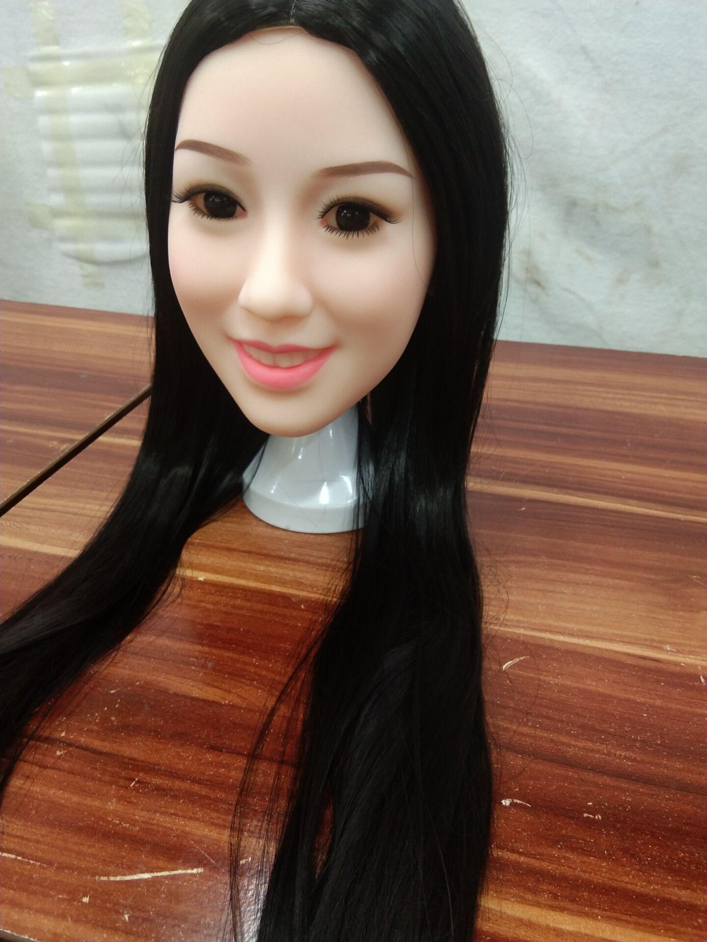 Cabeza de muñecas de silicona real japonesa, muñecas de amor humano real, cabeza de muñeca sexual China oral TPE