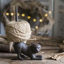 En fonte chat anneau support chanvre corde support organisateur bijoux en métal présentoir pour Bracelet Bracelet jardin