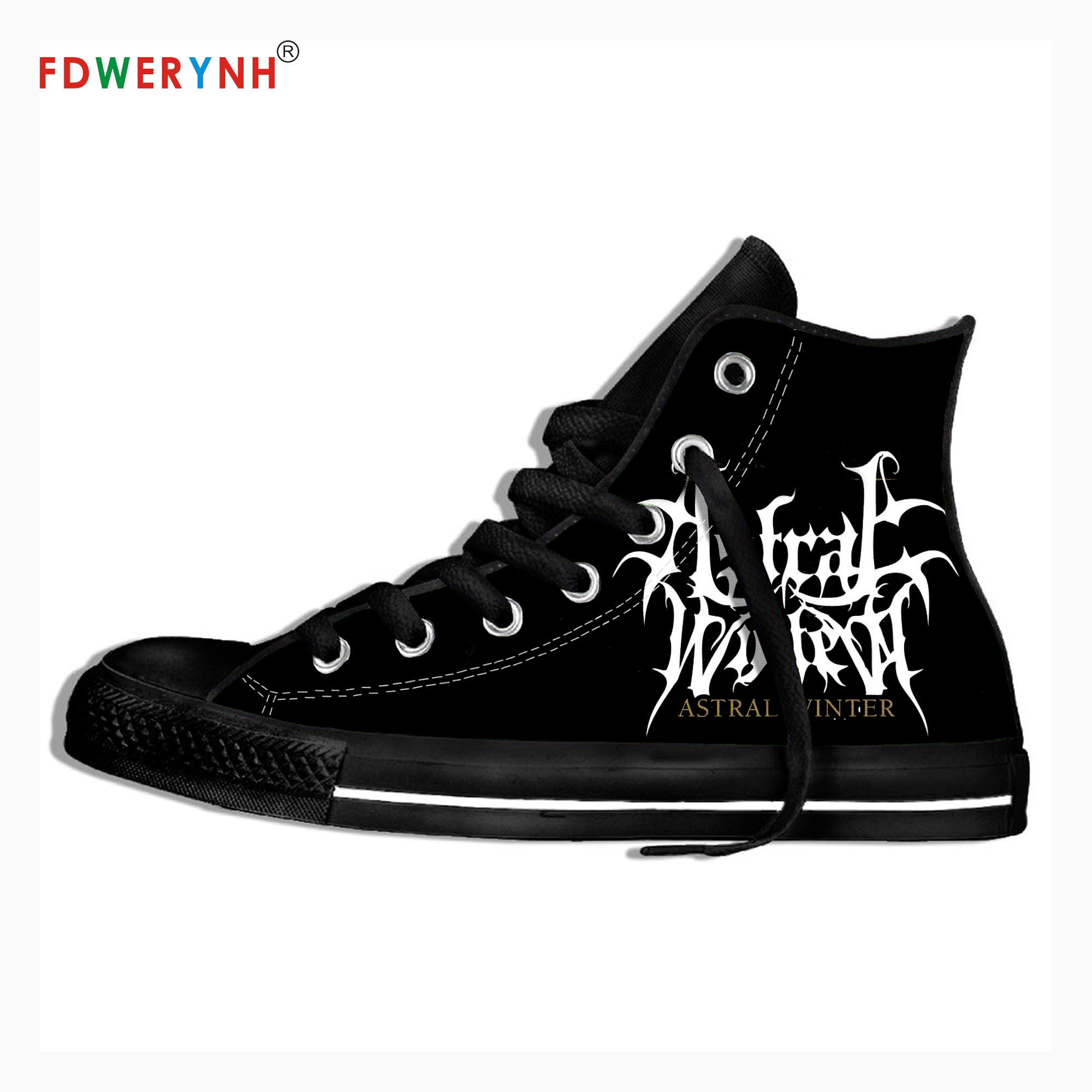 Men Walking Shoes Winter Music Fans Heavy Metal Band Logo Personalized Shoes Light Breathable Lace Upcanvas Casual Shoes