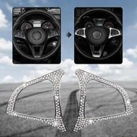 steering wheel frame decoration car shiny sticker for mercedes benz c e glc gle gls 2015 2018