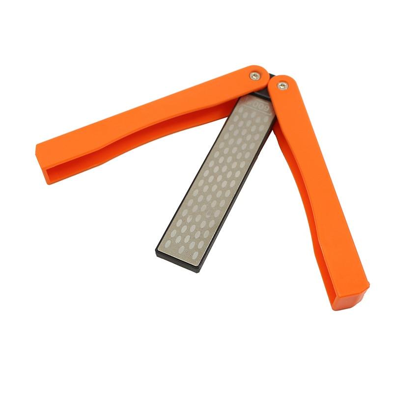 """Afilador de cuchillos portátil de 5 """", afilador de cuchillos de doble cara para bolsillo, afilador de piedras"""