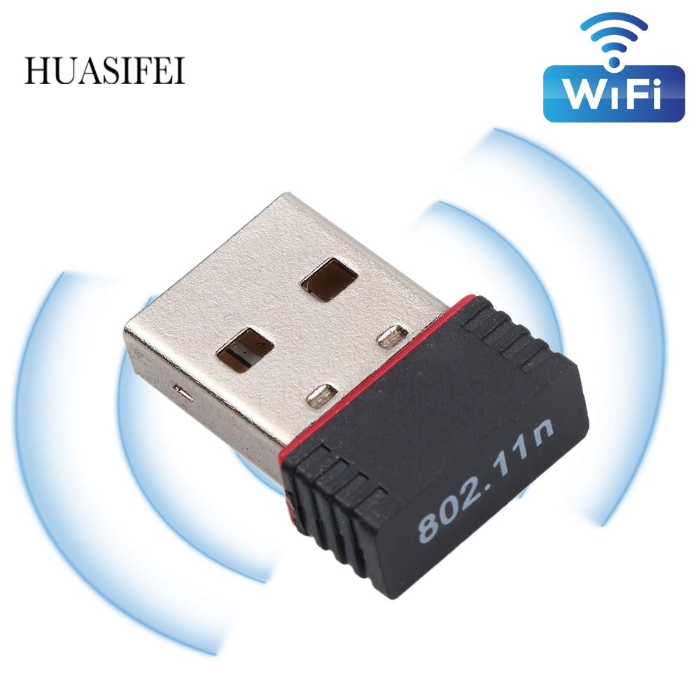 Wi-Fi-ключ HUASIFEI, беспроводная сетевая карта 150M, беспроводная сетевая карта Wi-Fi RTL8188, чип беспроводной-N для настольного компьютера