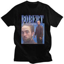 Divertente Robert Pattinson in piedi Meme T Shirt uomo pre-shrunk T-shirt in cotone T-shirt da uomo T-shirt moda manica corta Merch