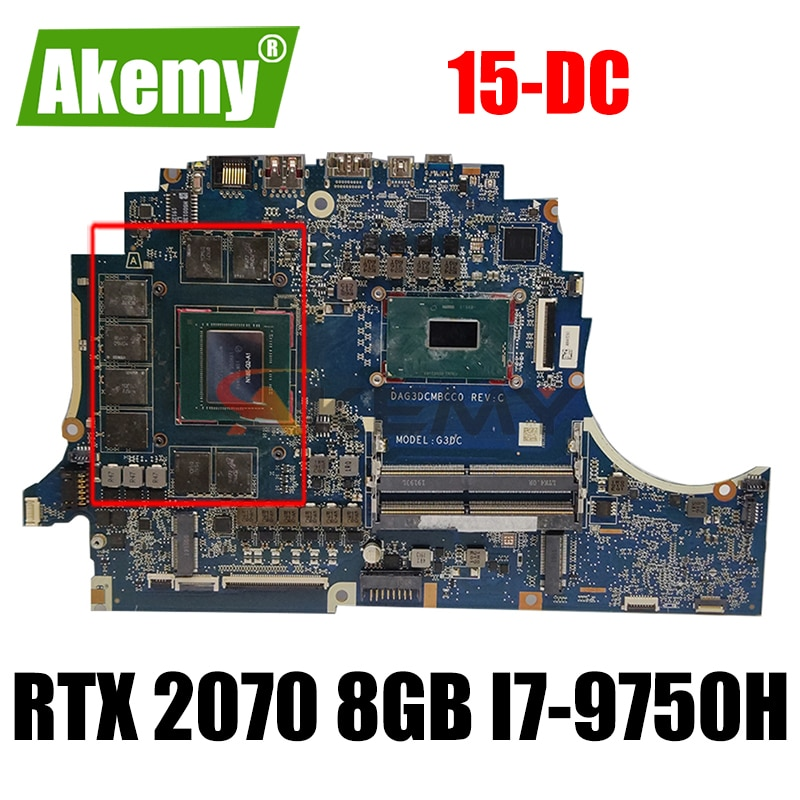 ل HP OMEN 15-DC اللوحة الأم للكمبيوتر المحمول DAG3DCMBCC0 اللوحة الرئيسية مع RTX 2070 8GB GPU + i7-9750H وحدة المعالجة المركزية 100% تعمل بشكل جيد