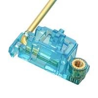 transparent blue gold plated pcb screw in v2 stabilizer for custom mechanical keyboard gh60 xd64 xd84 6 25x 2x 7x xd96 xd87