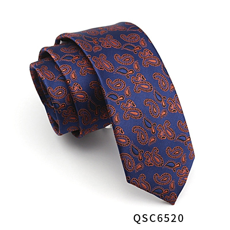 High Quality 2019 New Designers Brands Fashion Business Casual 7cm Slim Ties for Men Necktie Paisley Wedding with Gift Box
