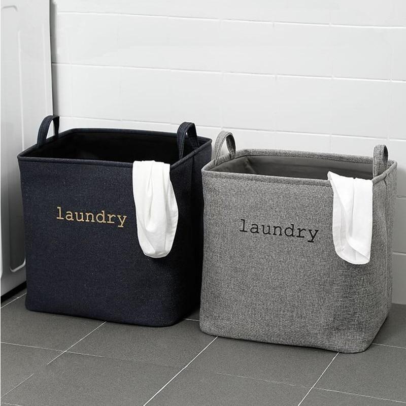 Cesto para ropa sucia de tela EVA para el hogar, cesto plegable con asas, Cubo de almacenamiento cuadrado para juguetes para el hogar