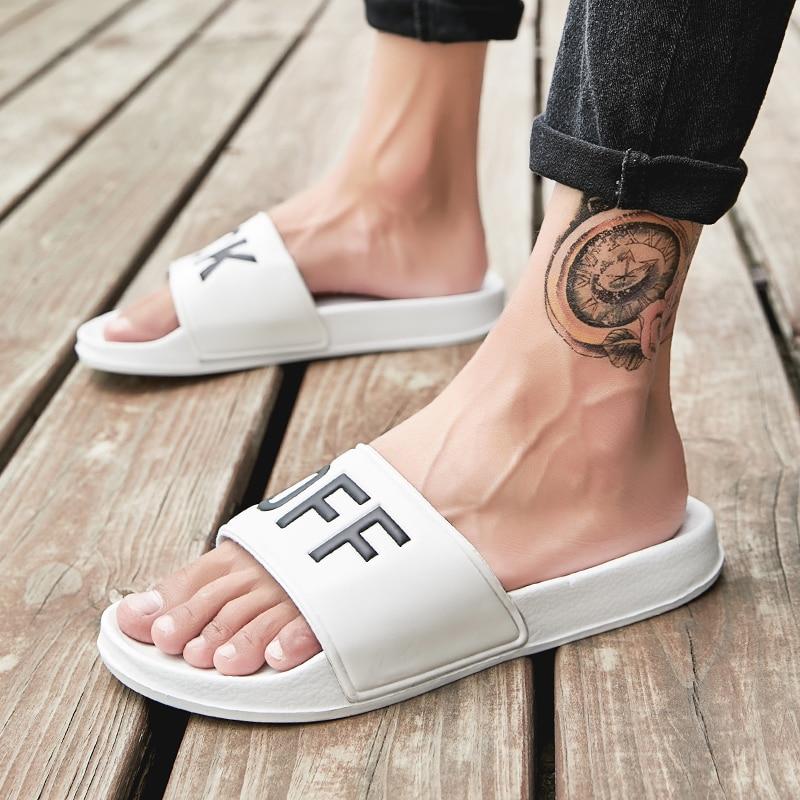 Summer Men Slippers Creative Men Outdoor Garden Shoes Clogs Beach Slippers Mules Indoor Bathroom Loafers Home Slides Flip Flops