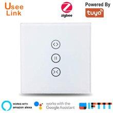Zigbee Smart Curtain Switch EU/US for Roller Shutter Electric motor Google Home Alexa Voice Control DIY Smart Home power by Tuya
