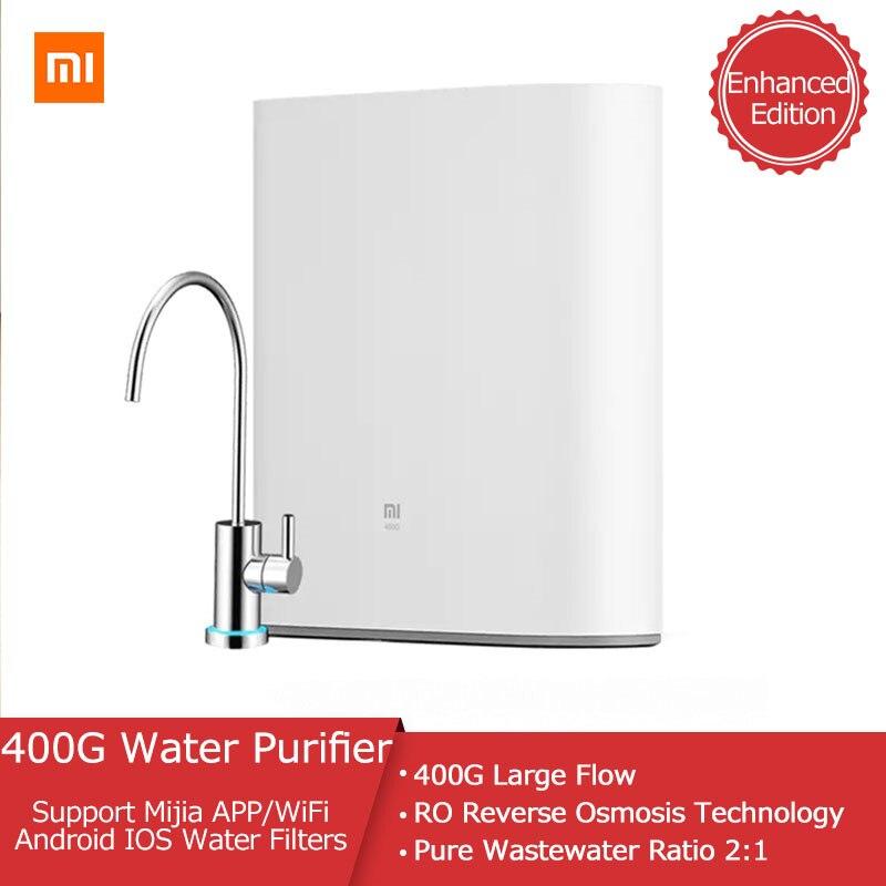 جهاز تنقية المياه من شاومي Mi إصدار معزز 400G جهاز تنقية المياه بالتناضح العكسي يدعم تطبيق واي فاي Mijia نظام تشغيل أندرويد IOS أداة منزلية