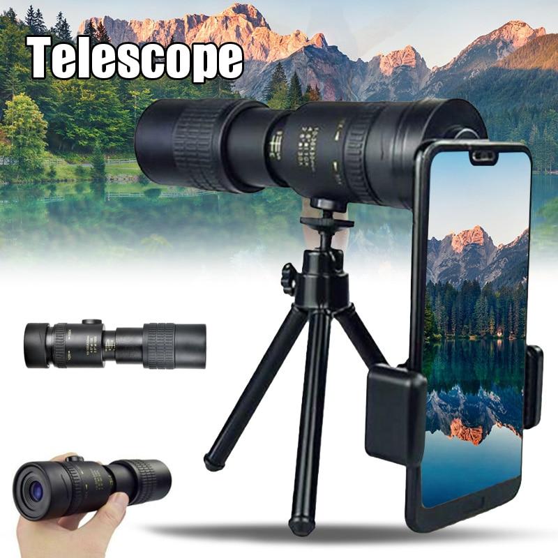 Telescopio Monocular con Zoom superteleobjetivo 4K 10-30X30mm para viajes en la playa DJA88
