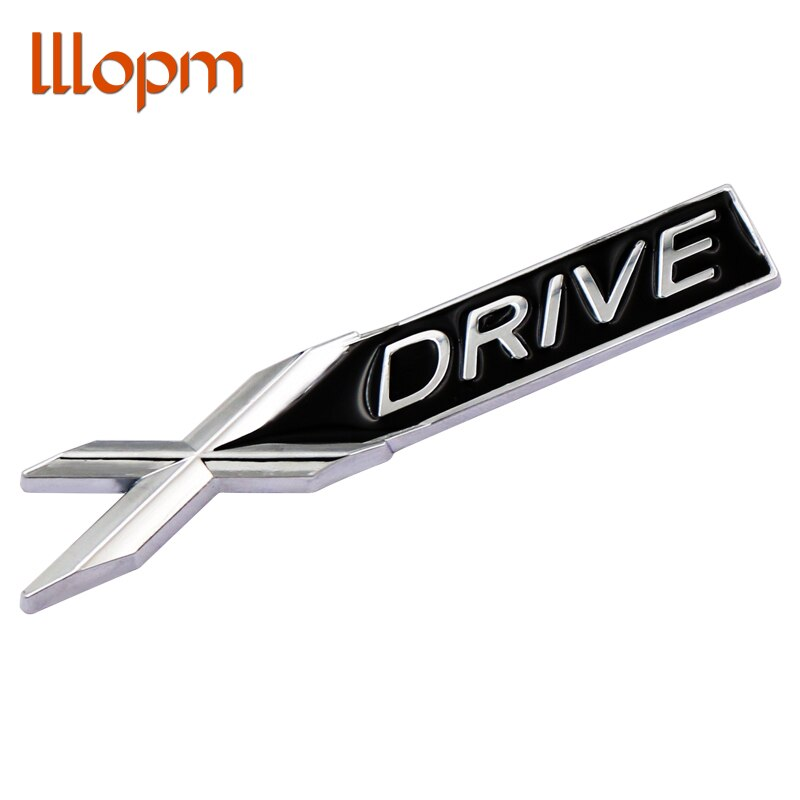 3D Metal cromado Xdrive X drive emblema insignia pegatina decoración coche para BMW 3 5 7 Series X1 X3 X5 E46 X6 Sdrive Z4 35i 18i