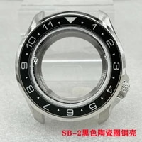 watch parts 42 3mm stainless steel skx007009 watch case ceramic rotating bezel sapphire fit nh3536 automatic movement