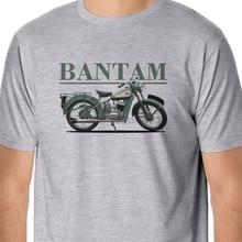 2019 Hot Sale 100% Cotton Retro Bikes - Classic BSA Bantam Inspired T-Shirt Summer Style Tee Shirt(1)
