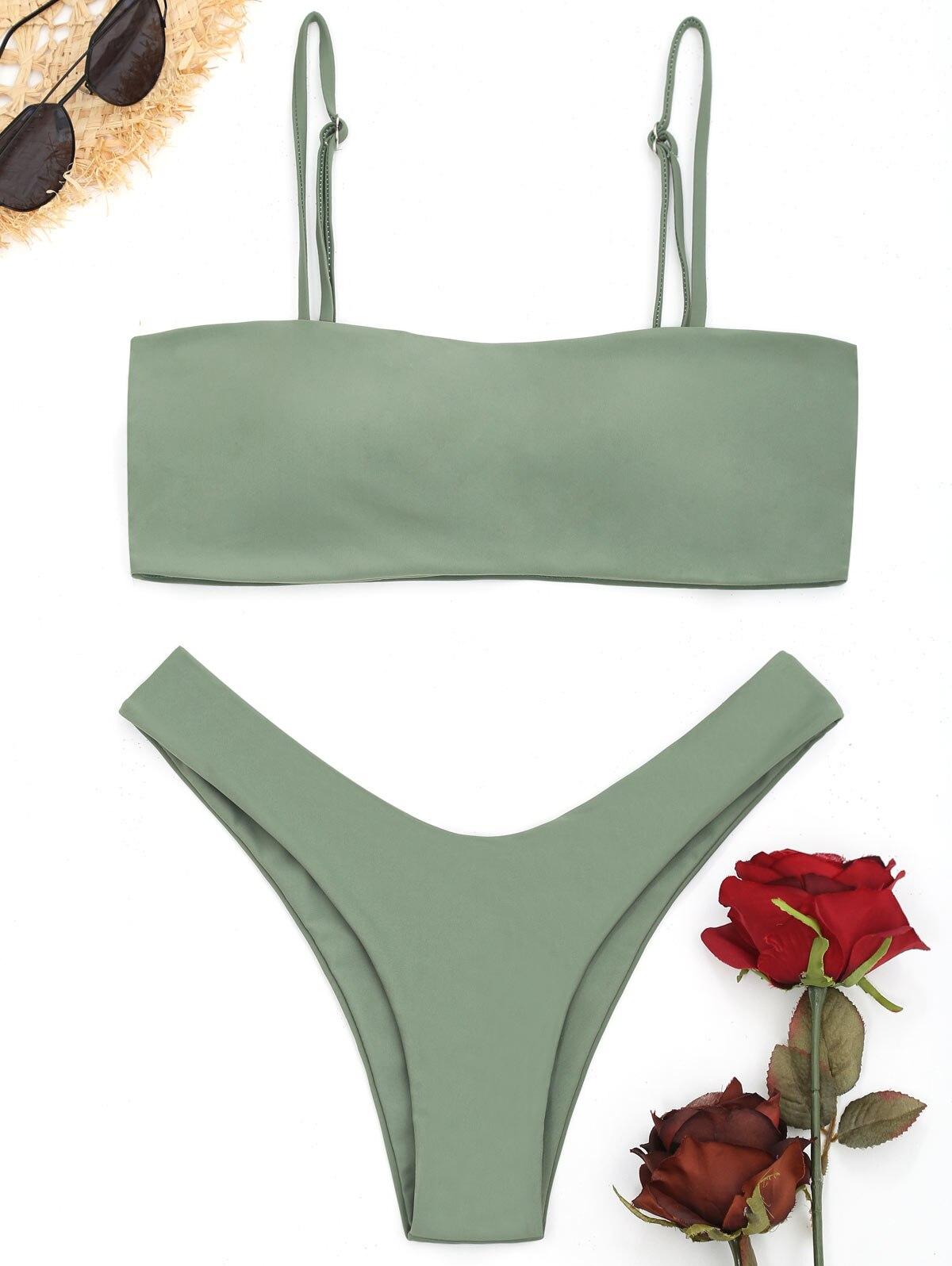 Conjunto de Bikini de corte alto Cami de ZAFUL