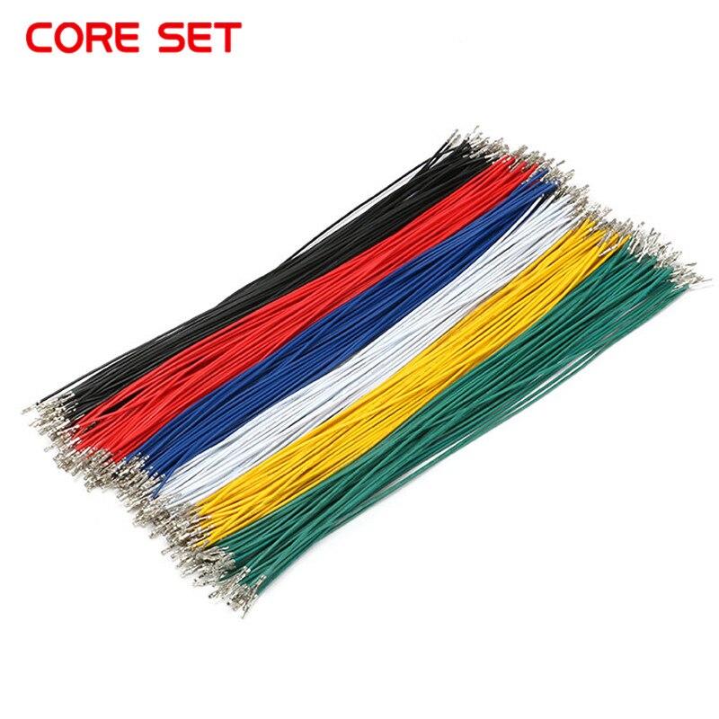 100 unids/lote 1P 2,54 Cable puente hembra a hembra doble cabeza resorte Cable electrónico línea de conector 24AWG 250mm