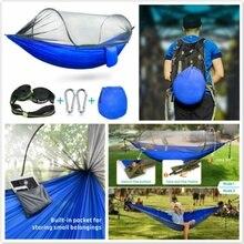 Hamac de Camping avec tente de fabrication dinsecte de moustique, meubles extérieurs portatifs de hamac de lit de hamac de voyage extérieur doscillation accrochante
