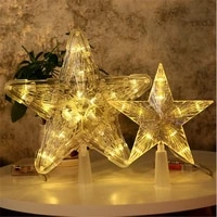 1030led star night light five pointed lamp christmas tree top for xmas party wedding fairy room outdoor garland decoration