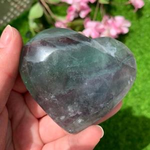 High Quality Flourite Heart Healing Crystal Stone Reiki Energy Mineral For Home Decor
