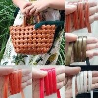 32 meters pe gradient flat synthetic rattan material handmade weaving rope diy repair furniture sofa table chair basket