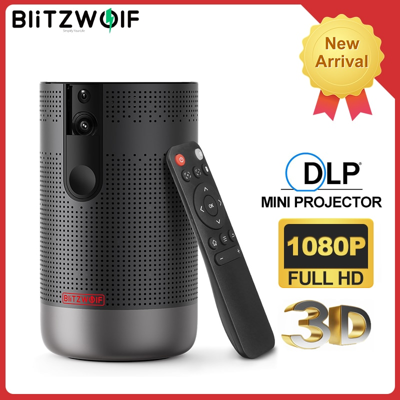 BlitzWolf-Proyector BW-VP4 1920x1080, Full HD, Android 7,1, 2G + 16G, 5G, Wifi,...