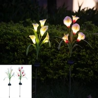 led solar lights waterproof outdoor flower decorative lawn light for yard paths way landscape garden flower decoration lightings