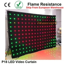 LED zemin P18 2M x 3M DMX denetleyici 80 hareketli desenler 187 adet LED vizyon perde esnek ekran LED Video perde ekran