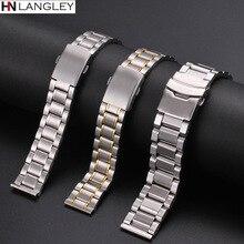 12mm 14mm 16mm 18mm 20mm 22mm 24mm largeur bracelet de montre bracelet en acier inoxydable cinq-perle plongée bracelet en acier montre accessoires outil