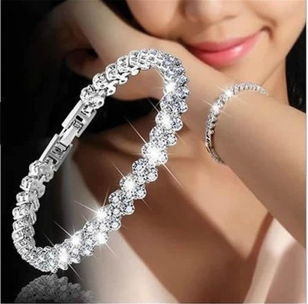 Mode Style romain Bracelets pour femme bouton pression bijoux Bracelets cristal Bracelets porte-bonheur cadeaux