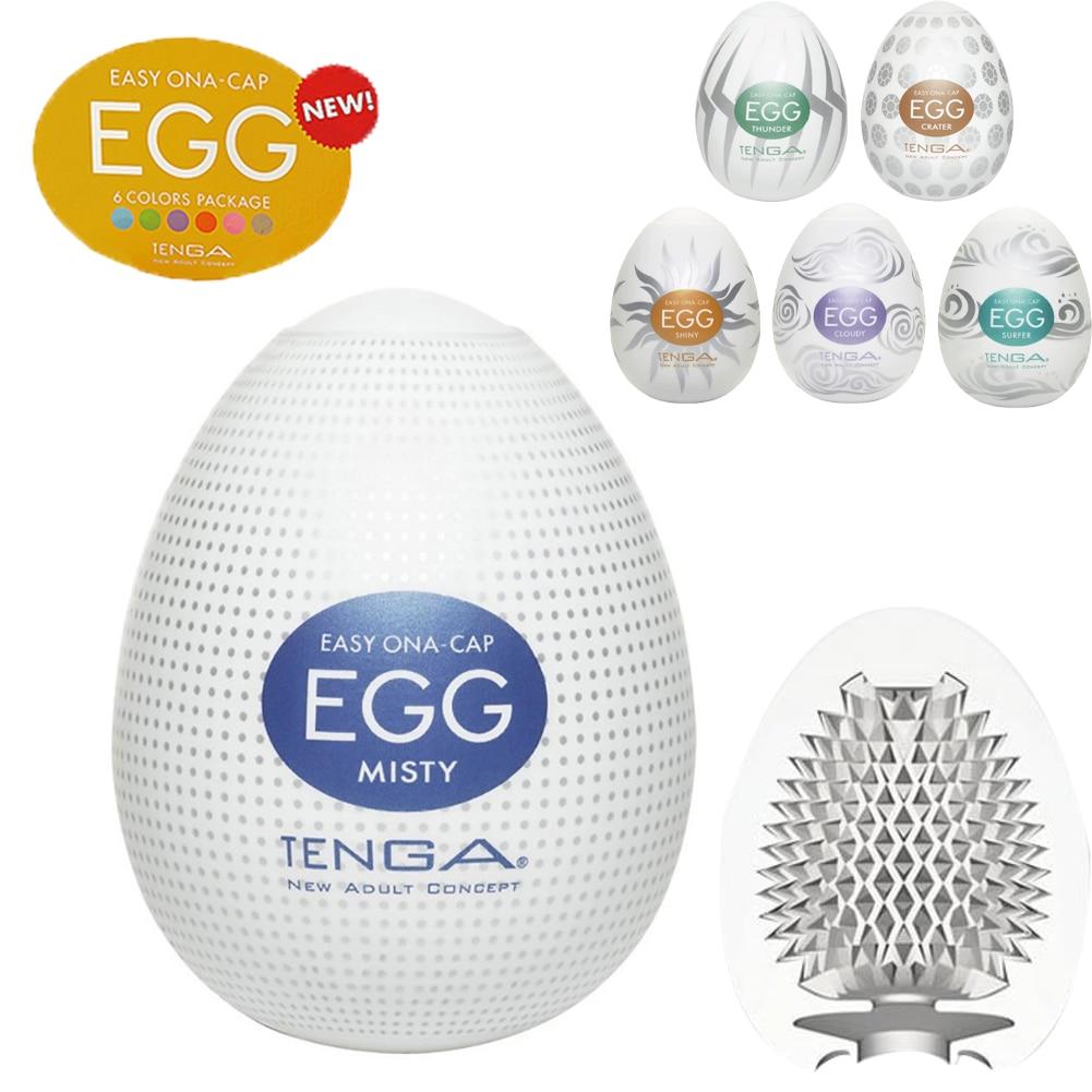 Tenga Eggs 18+ Male Masturbation Cup Sexy Toy for Men Realistic Vagina Men G Spot Penis Massager Masturbate Egg Free Shipping