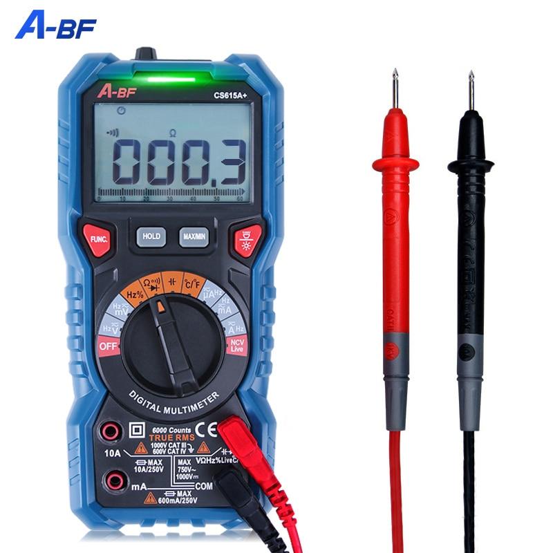 Цифровой мультиметр A-BF, вольтметр, амперметр, измеритель емкости и сопротивления, интеллектуальный, AC/DC, Автоматический диапазон