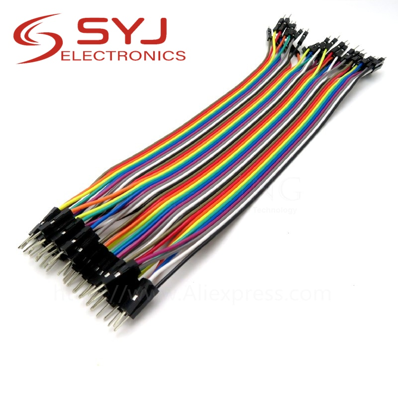 Aliexpress - 40pcs Jumper Wires: male to male + male to female + female to female