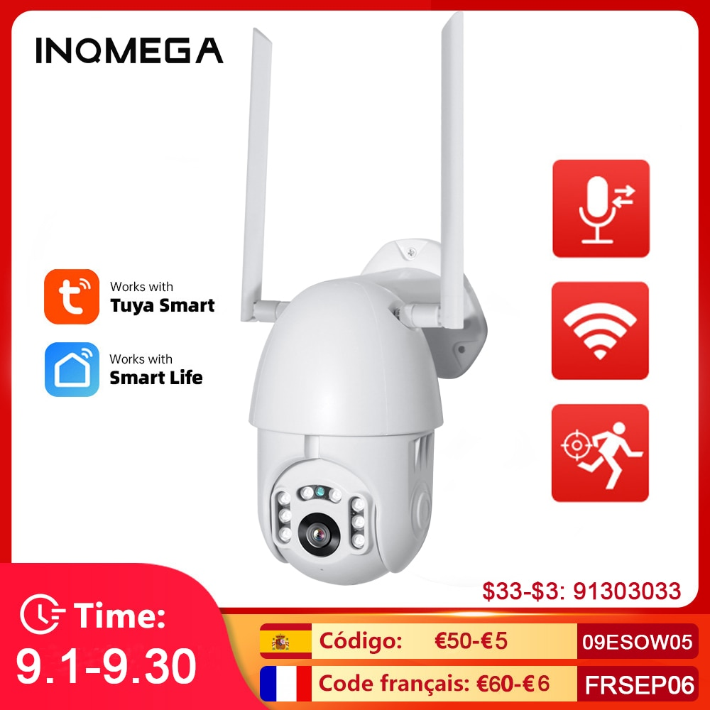 INQMEGA Ip كاميرا واي فاي تويا الذكية 4X التكبير السيارات تتبع في الهواء الطلق عمل كاميرا P2P صوتين اليكسا 2MP الأمن كاميرا تلفزيونات الدوائر المغلقة