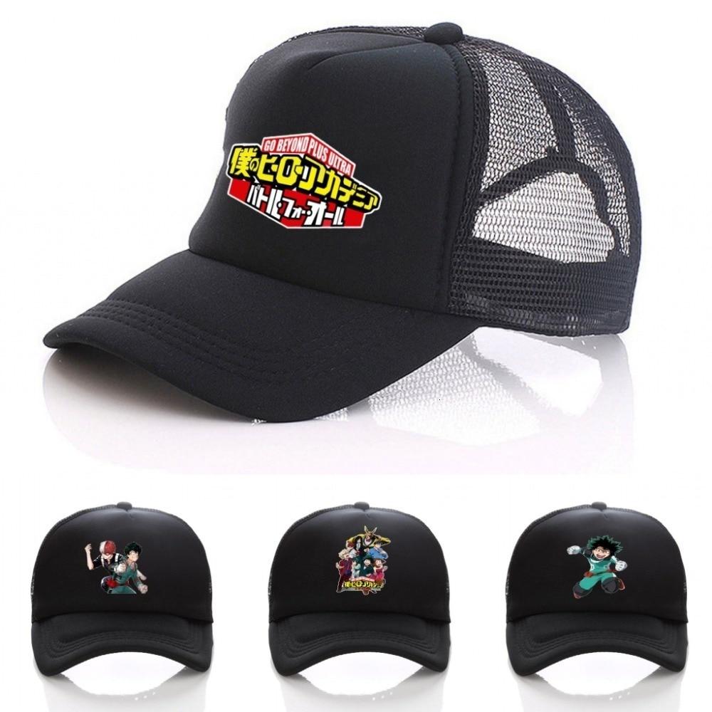 Anime My Hero Academia Izuku Midoriya Katsuki Bakugou Unisex Adjustable Summer Fitted Snapback Baseball cap Cosplay hat