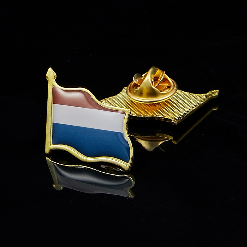 Holanda país Metal bandera solapa Pin sombrero corbata insignia broche recuerdo regalos 19x21mm