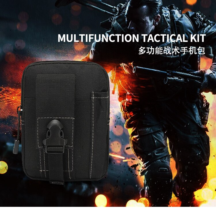 6-Inch Men Waist Pack Bum Bag Pouch Waterproof Military Belt Waist Packs Molle Nylon Mobile Phone Wallet Travel Tool Waist Bag enlarge