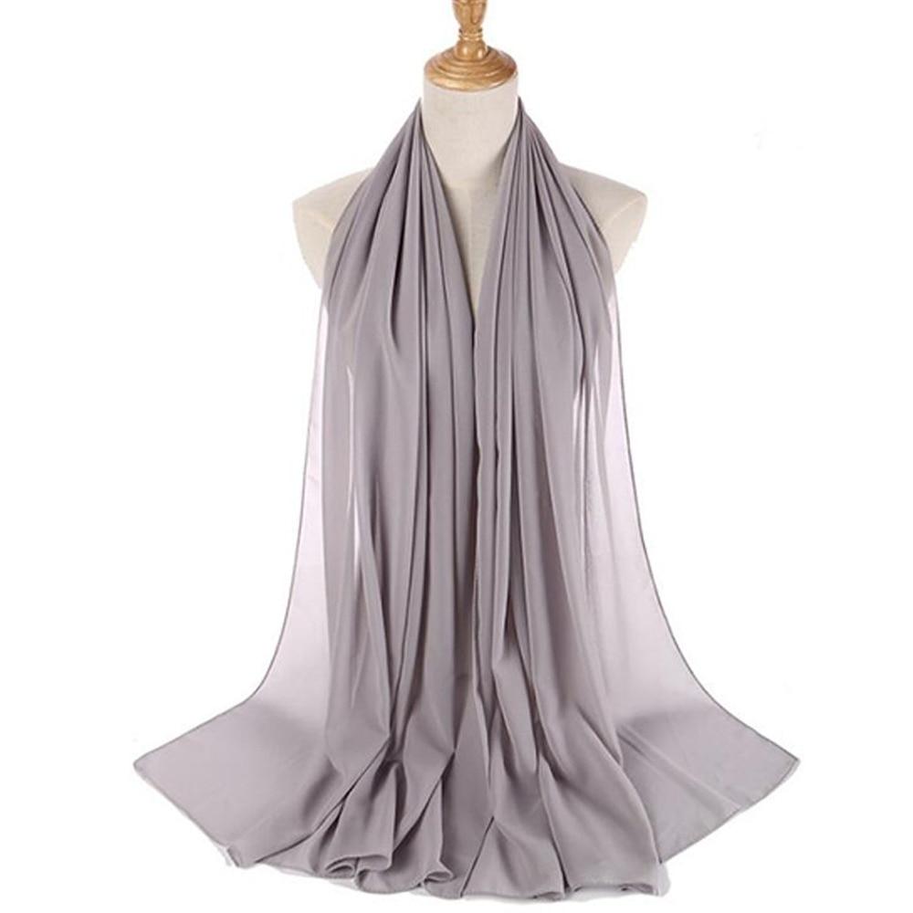 Bubble Chiffon Scarf Hijab Wrap Printe Solid Color Shawls Headband Muslim Hijabs Scarves/scarf 39 Co