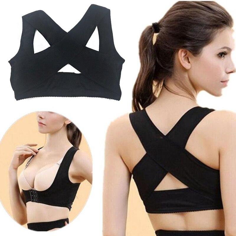 Поддерживающий бандаж для спины, Женский Корректор осанки, бандаж, плечевой корсет, бандаж для поддержки спины и боли, регулируемый Коррект...