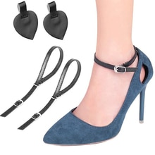 1 paio di lacci delle donne di moda per tacchi alti cintura per scarpe regolabile caviglia con lacci allentati in Bundle antiscivolo cinturini per cinturini