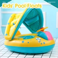 pool float inflatable kids water float ring with handle safety seat swimming rings for babies toddlers