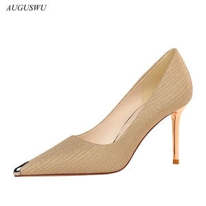 Shoes New Woman Pumps Comfort Women Shoes High Heels Office Shoes Stiletto Heels Sexy Party Shoes Women Heels Footwear