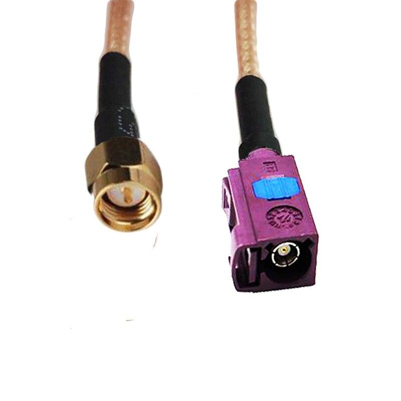 10 Uds SMA enchufe macho a Fakra D hembra para coche Antena de Radio GPS RG316 Cable de extensión Pigtail 50ohm 10/15/20/30/50cm 1/2/3m