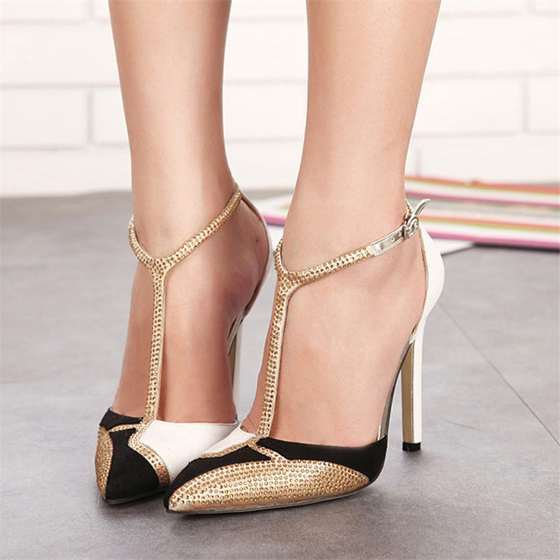 sexy high heels shoes woman 2019 pumps women shoes gold high heels sandals ladies wedding party shoe
