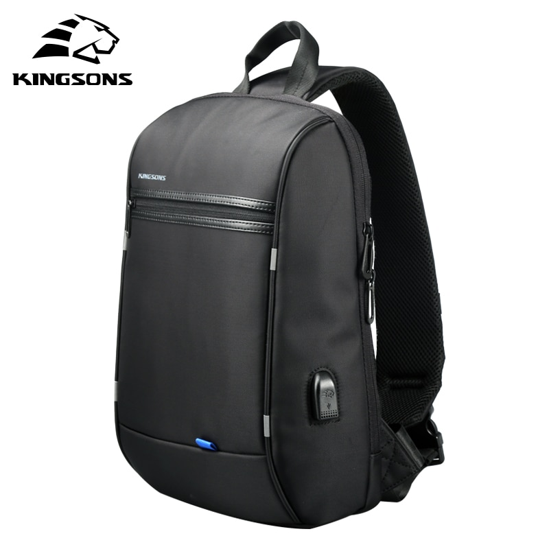 Kingsons New 13'' Waterproof Single Shoulder Laptop Backpack for Men and Women School Bag Computer T