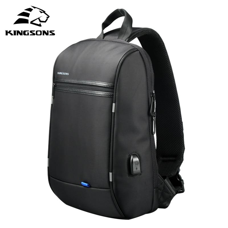 Kingsons-حقيبة ظهر للكمبيوتر المحمول مقاس 13 بوصة للرجال والنساء ، حقيبة مدرسية مقاومة للماء مع كتف واحد ، مناسبة للسفر والأعمال