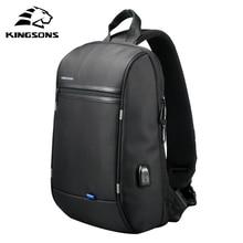Kingsons New 13'' Waterproof Single Shoulder Laptop Backpack for Men and Women School Bag Computer T