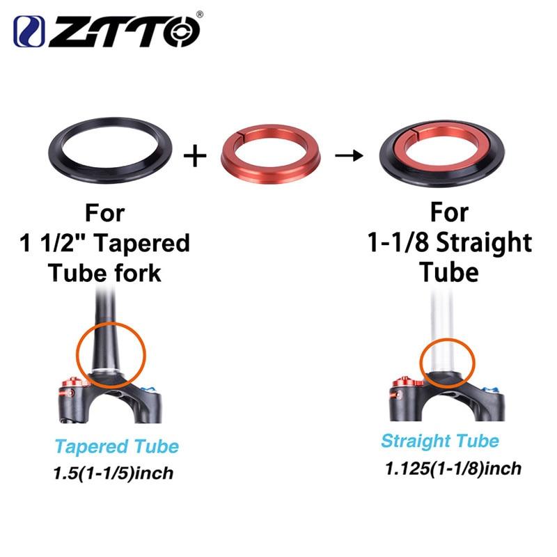 """Mtb bicicleta de estrada da bicicleta fone de ouvido rolamento 44/56mm 1 1/8 """"tubo reto cônico garfo tubo 1 1/2"""" 1.5 cônico 28.6 tubo reto garfo"""