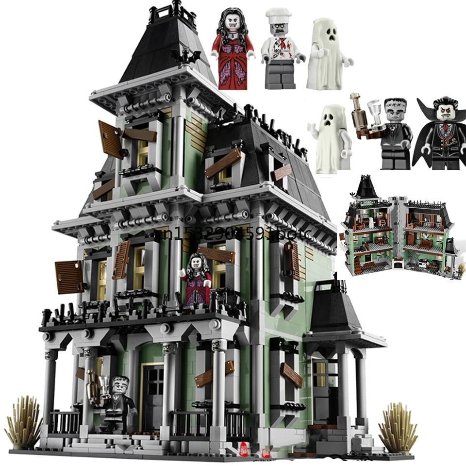 Lepining 16007 cidade monstros lutador a casa assombrada quartel-general blocos de construção filme brinquedos crianças presentes 10228