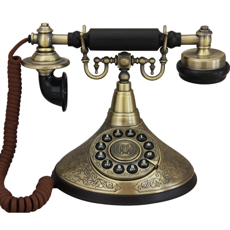 Teléfono fijo retro europeo, Vintage, antika, antiguo, fijo, para oficina, hogar, Hotel,...