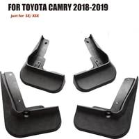 4pcs car sport accessories plastics material mud flaps splash guards fenders mudguard for toyota camry 2018 2021 yc101020